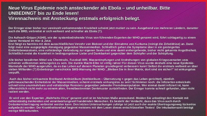 wahrheitsvirus es wird zur pandemie