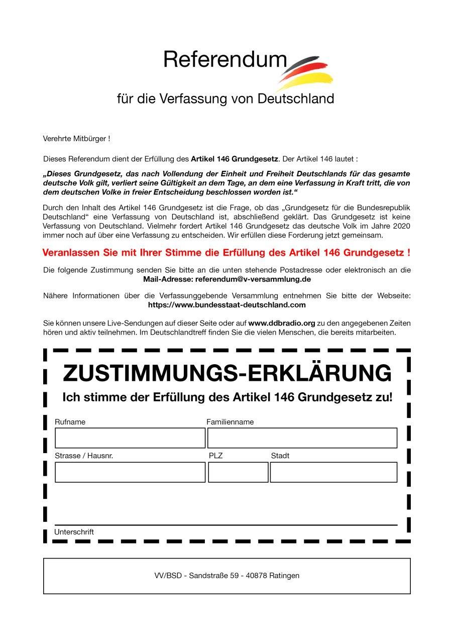 Referendum zur VV